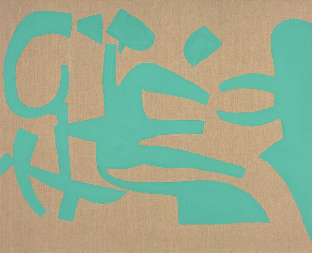 """""""Verde"""" 2006, vinilico su tela grezza, 130 x 160 cm"""