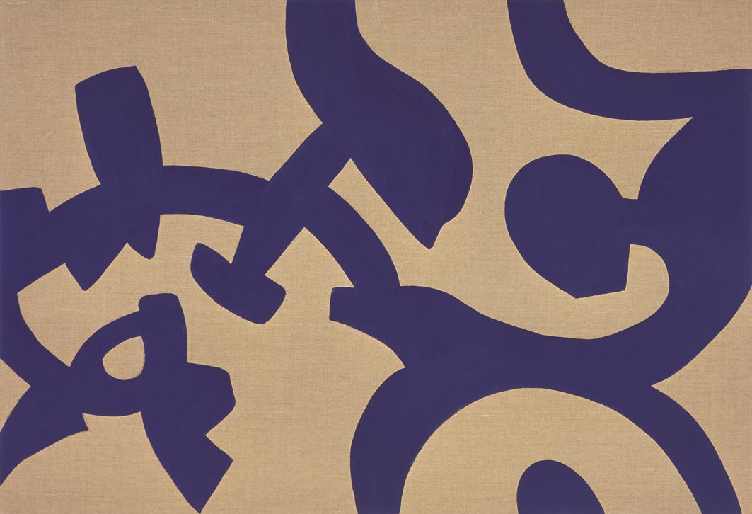 """""""Viola"""" 2006, vinilico su tela grezza, 110 x 160 cm"""