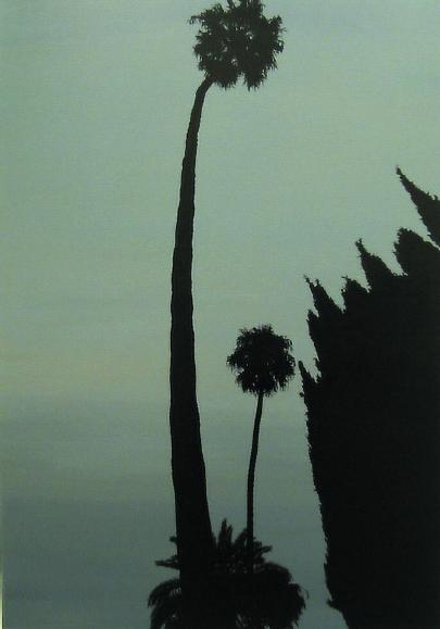 """""""A night with escape"""" 2003, olio su tela, 40 x 40 cm"""