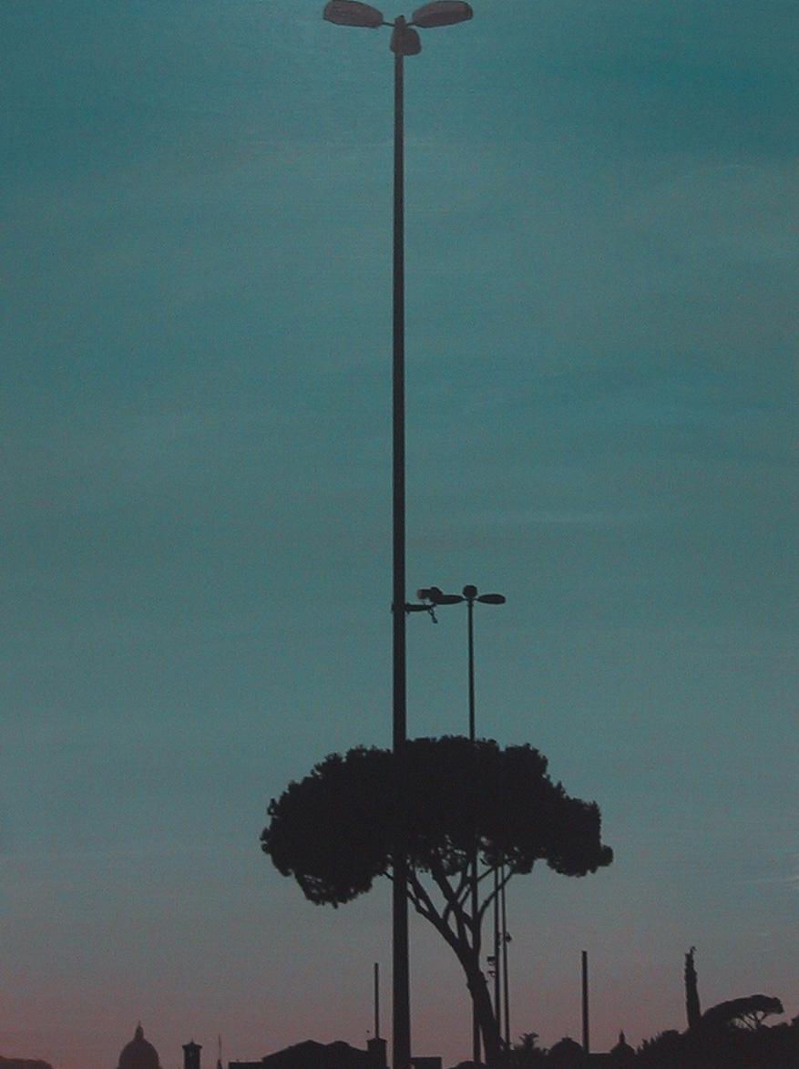 """""""Viale Cristoforo Colombo"""" 2003, olio su tela"""
