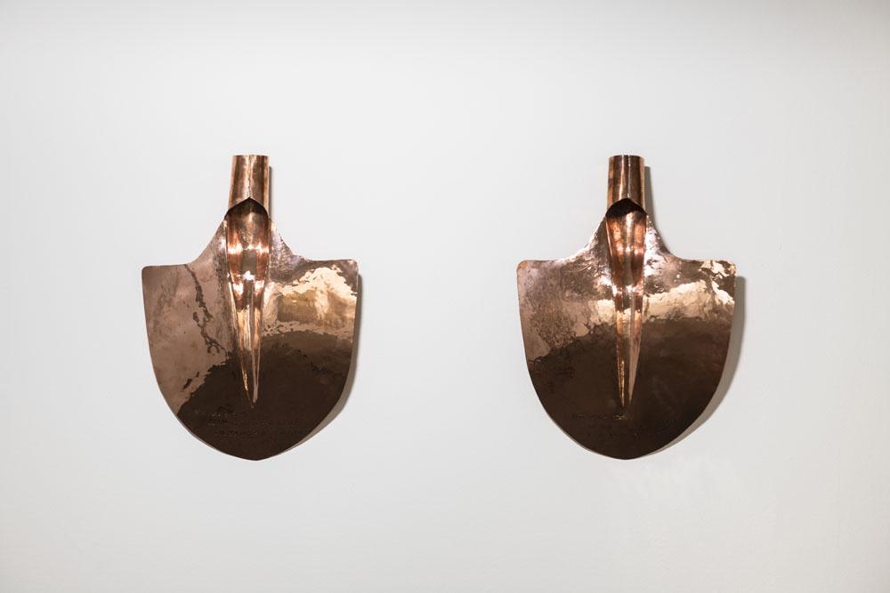 Langue, 2018, rame, 40 x 20 x 10 cm ognuna, ed. 3