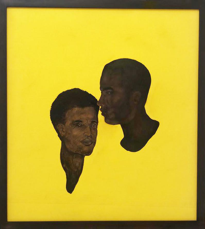 """Untitled"" 2020, pittura su gomma, 103 x 93 cm"