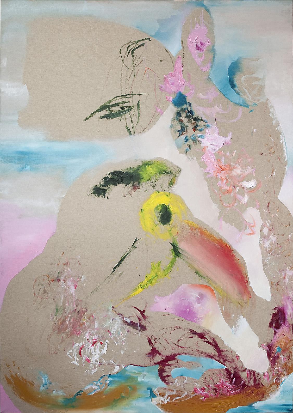 """""""Gravity"""" 2012, olio su tela, 200 x 140 cm"""