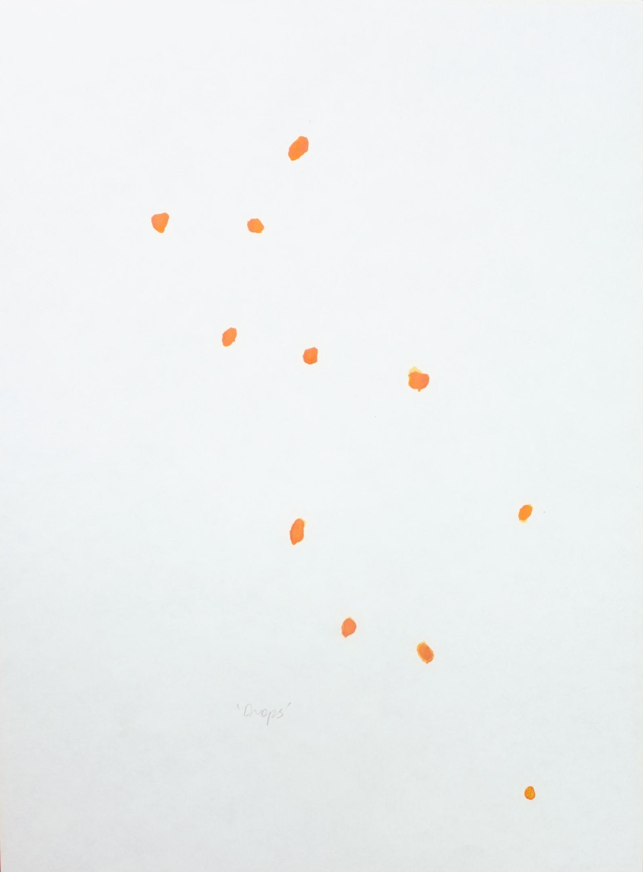 """""""Napoli drops"""" 2013, inchiostro su carta, 28 x 21 cm"""