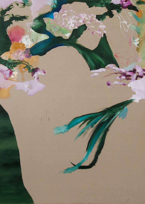 """""""Unravel 2012, olio su tela, 200 x 140 cm"""