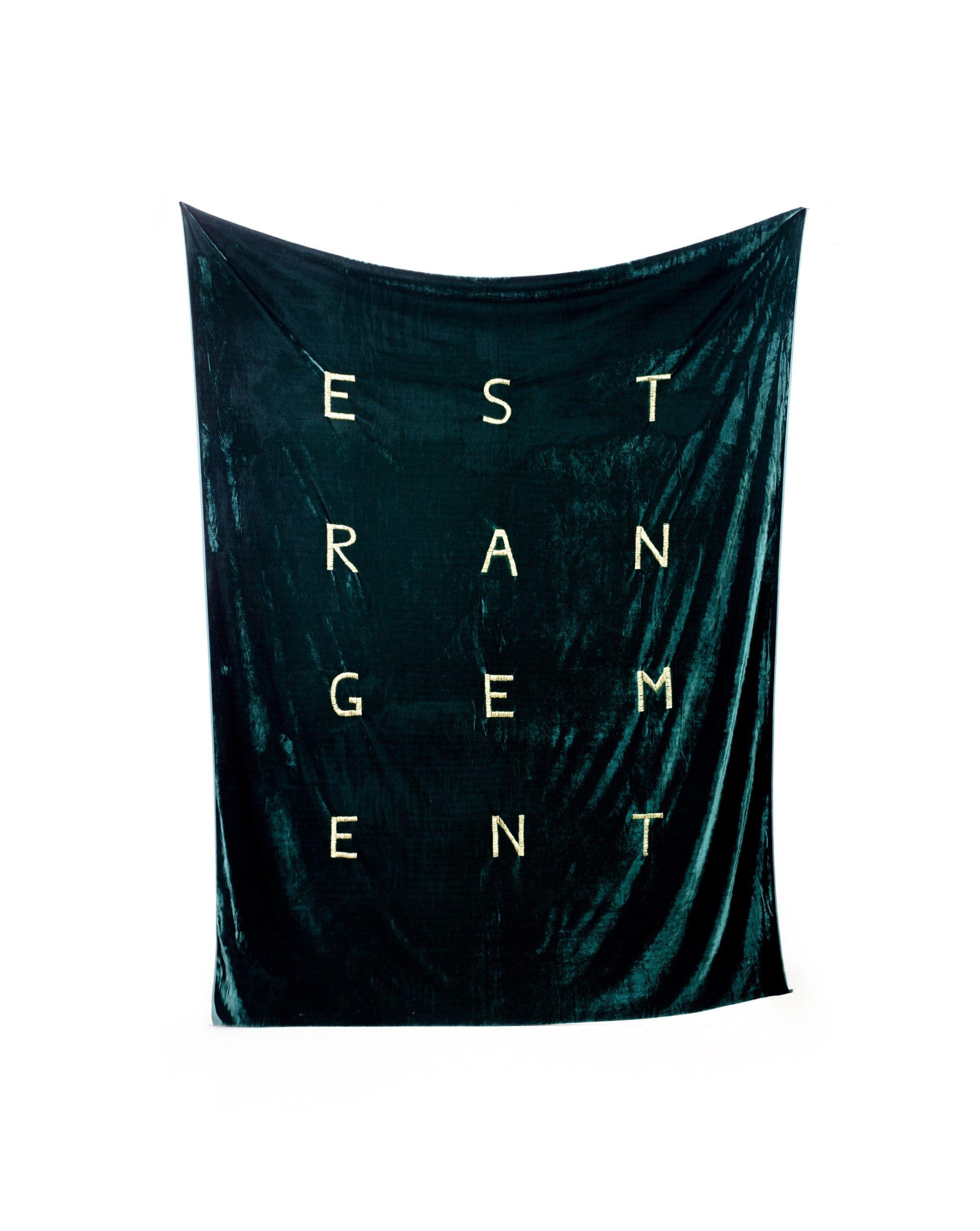 """""""Estrangement"""" 2014, ricamo su velluto"""