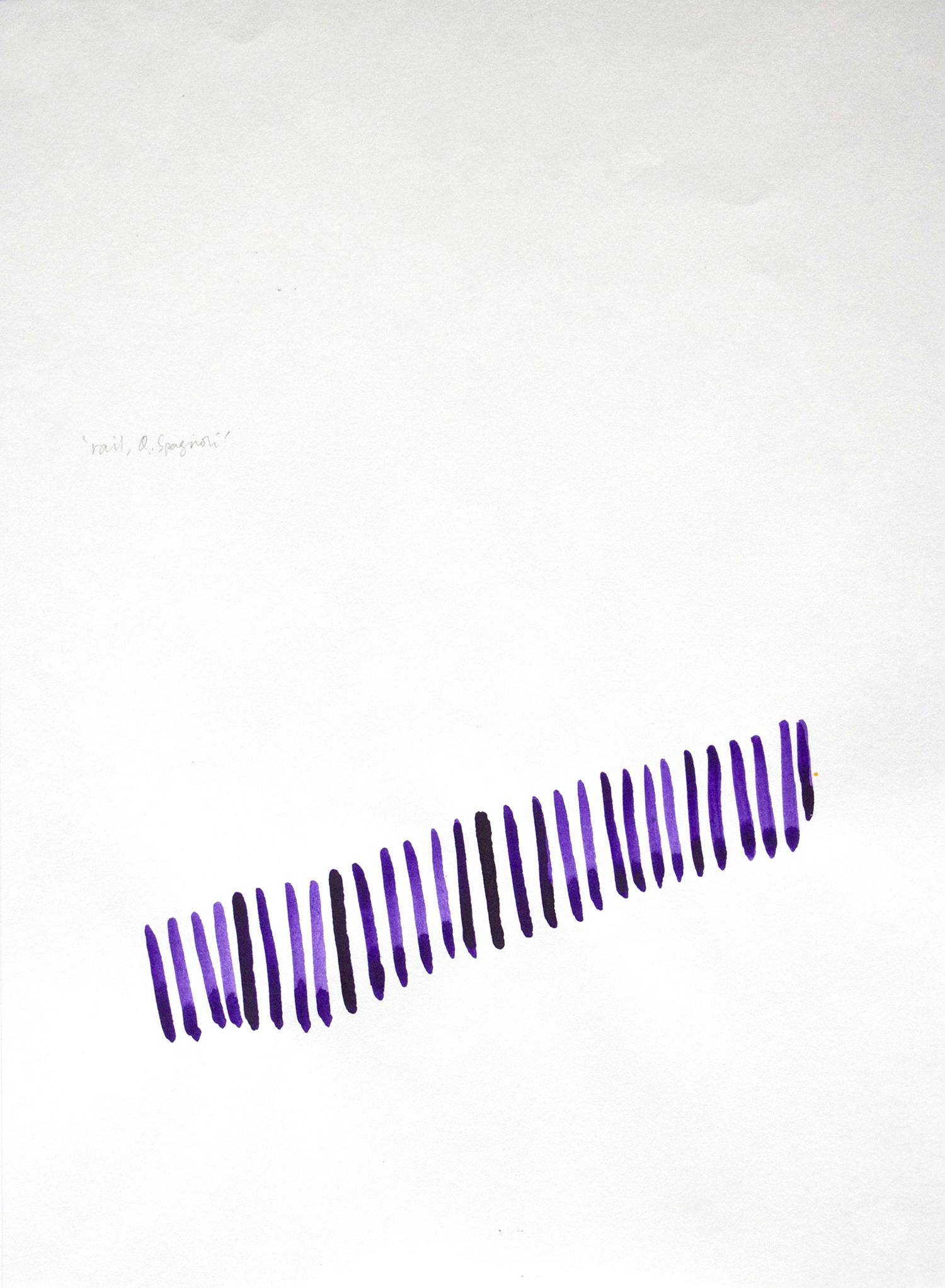 """""""Napoli rail Q. Spagnoli"""" 2013, inchiostro su carta, 28 x 21 cm"""