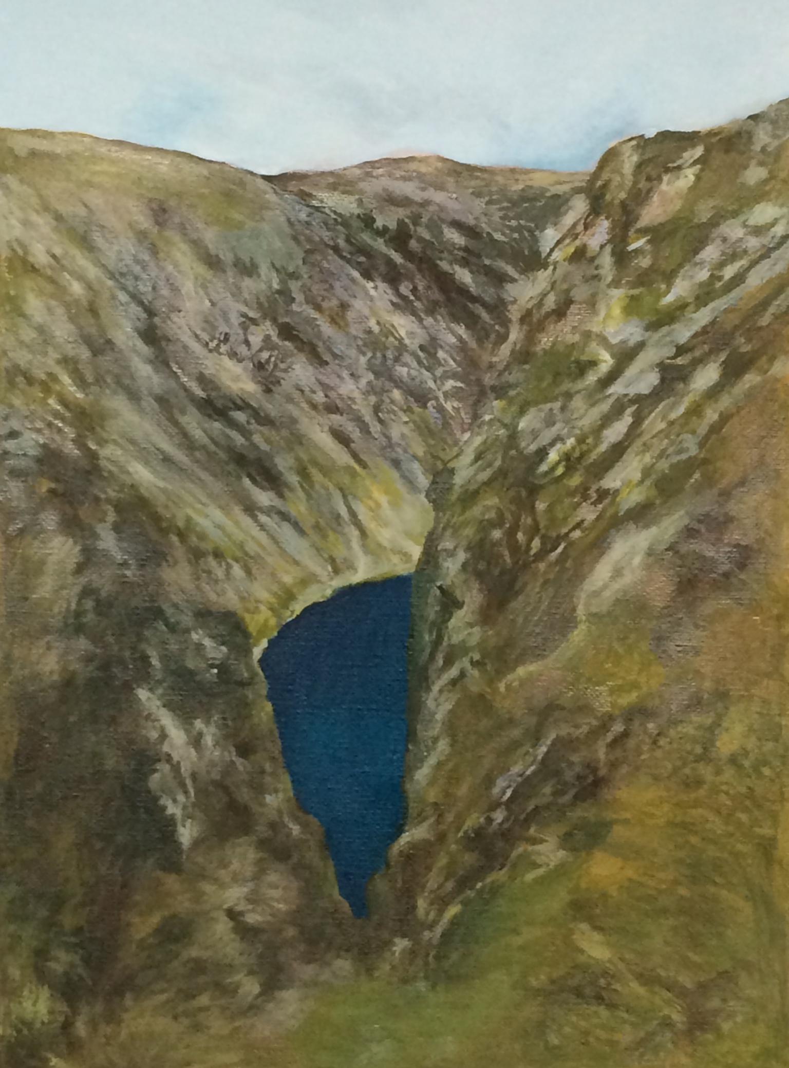 """Untitled (cavity)"" 2014, olio su tela, 26.9 x 20 cm"