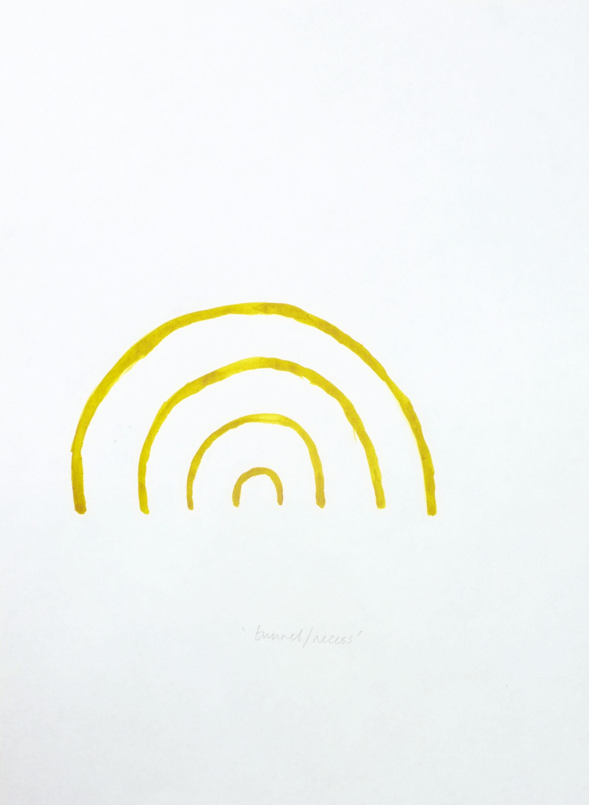 """""""Napoli tunnel recess"""" 2013, inchiostro su carta, 28 x 21 cm"""