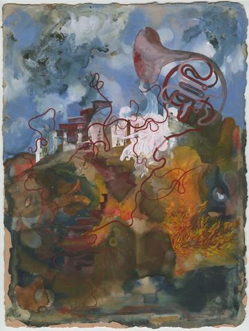 """""""Silence as malaise"""" 2010, inchiostro e gouache su carta, 38.1 x 38.3 cm"""
