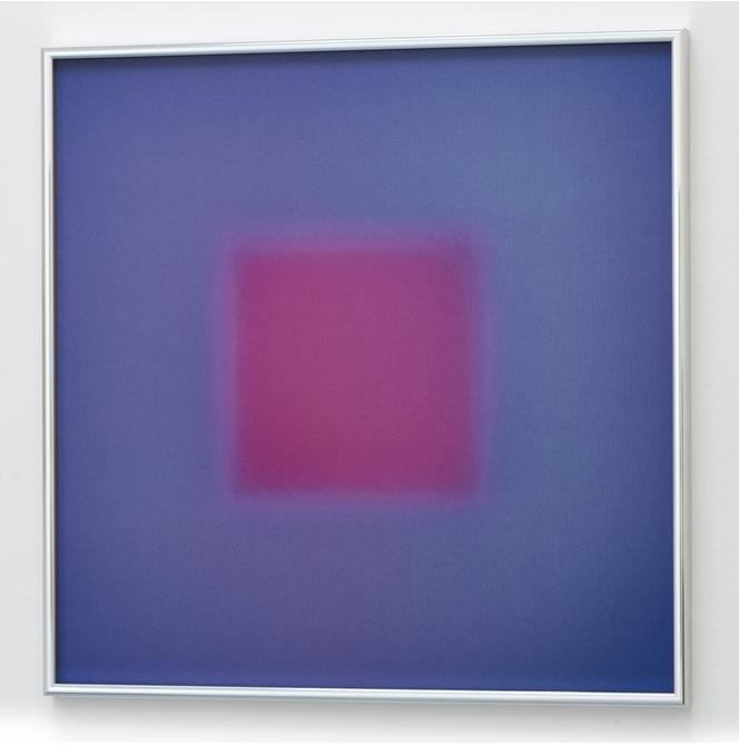 "BRIAN ENO ""Center decenter"" 2016, lenticolare - stampa digitale su PETG, 40.6 x 40.6 cm, ed. 100"