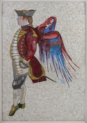 """""""Adam Smith"""" 2017, mosaico, 123 x 170.5 cm"""