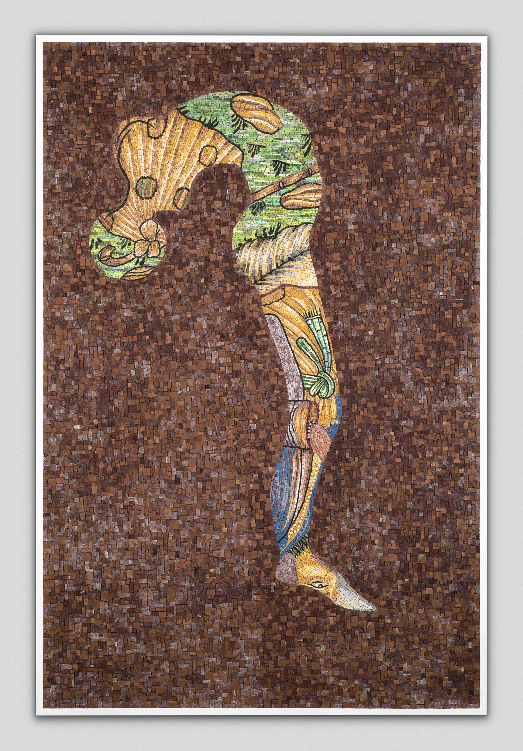 """Demarcation 2"" 2017, mosaico,"