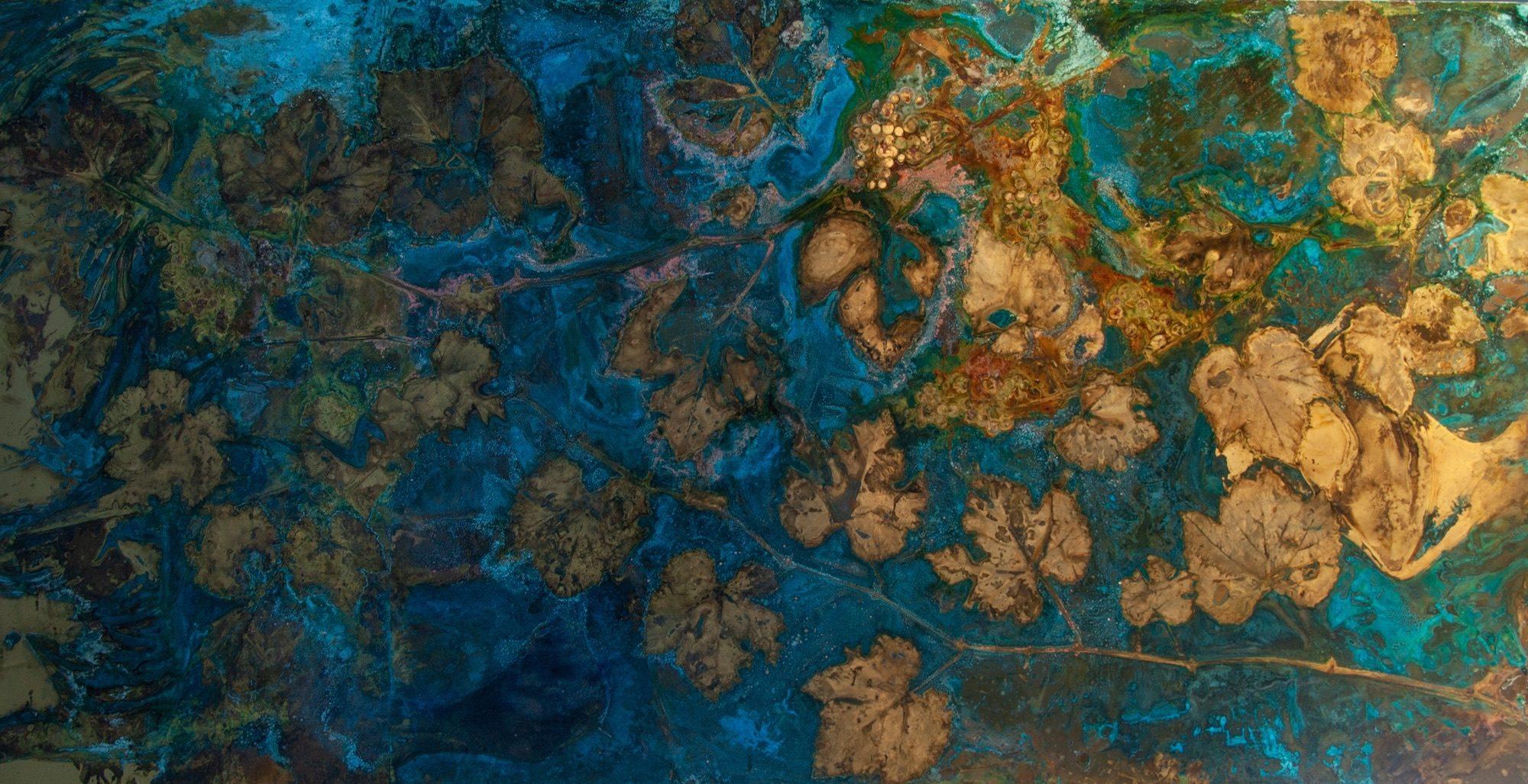 """""""Vitis Vinifera #2"""" ottone ossidato, 200 x 100 cm"""