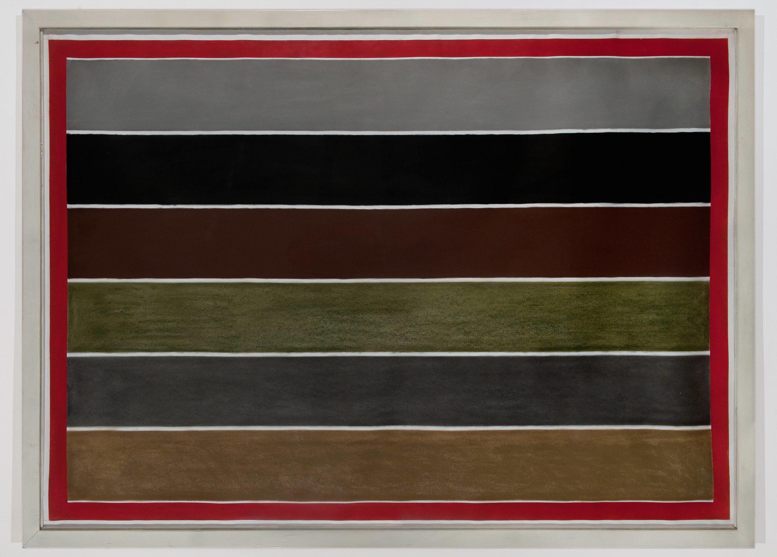 """""""Senza titolo"""" 2003, pastello su carta, 100 x 150 cm"""