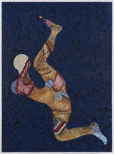 """Demarcation"" 2017, mosaico, 144 x 107 cm"