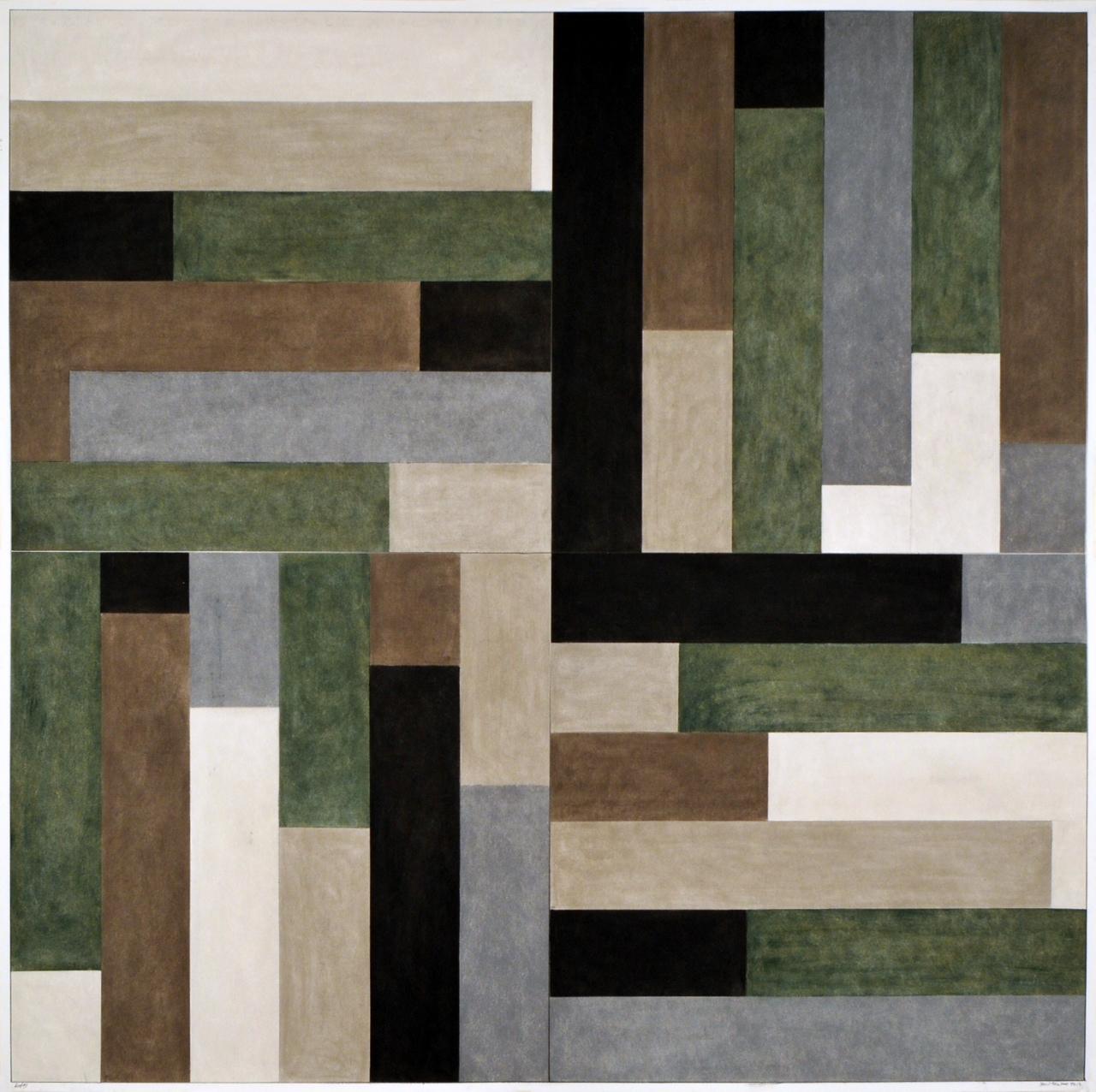"""""""East #3"""" 2012, pastello su carta, 122 x 122 cm"""
