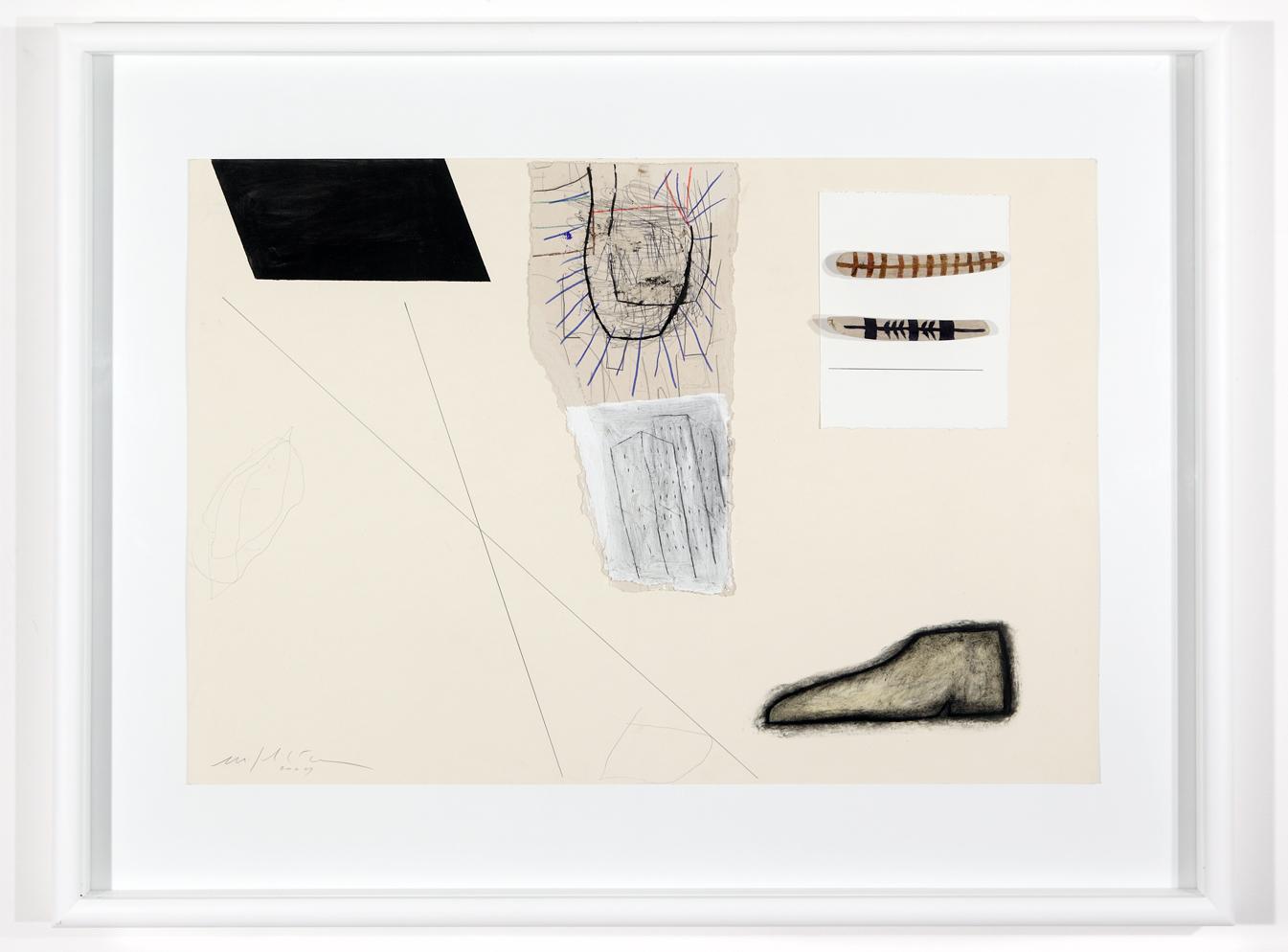 """""""Senza titolo"""" 2010, tecnica mista su cartone, 100 x 70 cm"""