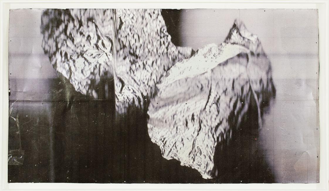 """""""Placet experiri (flogisto)"""" 2013, stampa ai raggi UV su alluminio, 250 x 140 cm"""