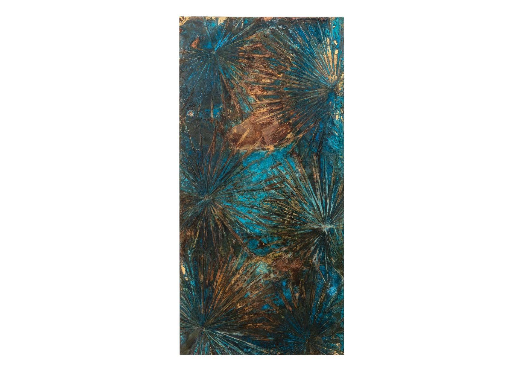 """""""Senza titolo"""" 2021, ossidazione su ottone, 200 x 100 cm"""