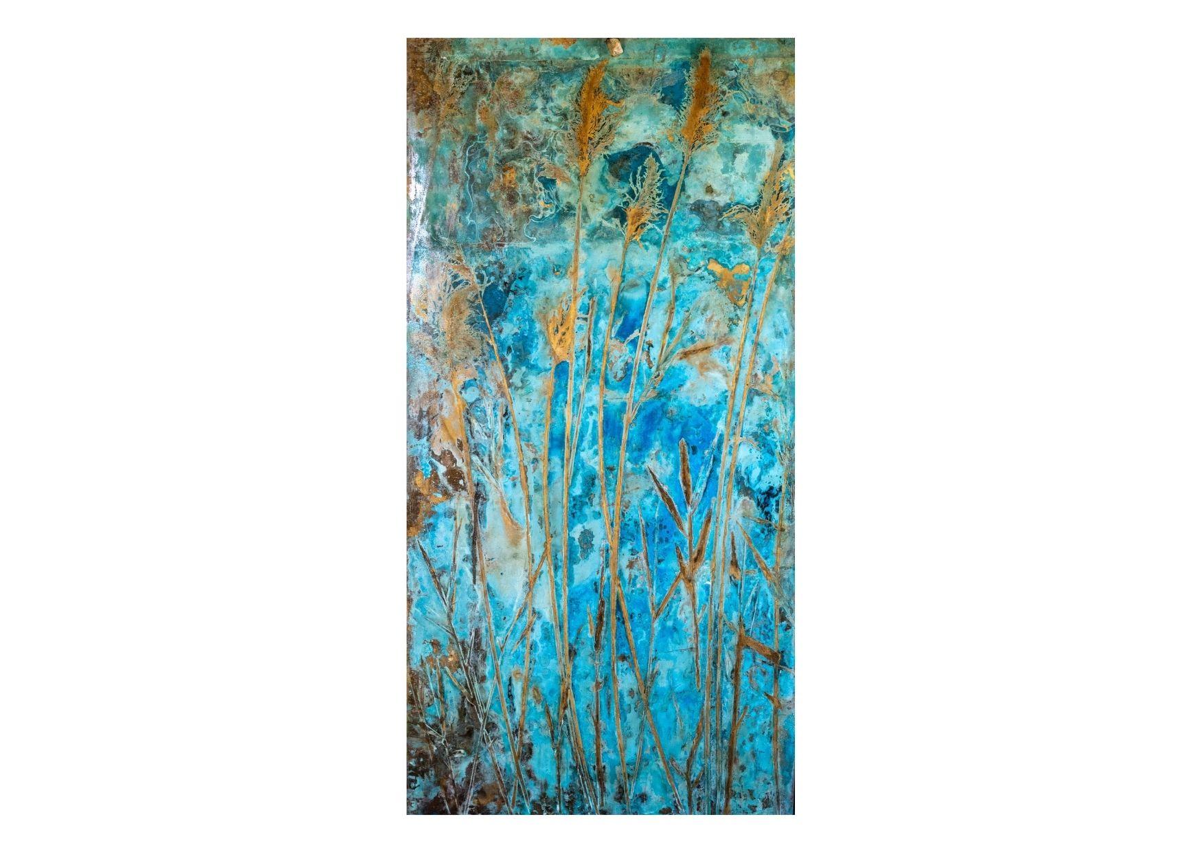 """""""Harundo Indica 3#"""" 2020, ossidazione su ottone, 200 x 100 cm"""