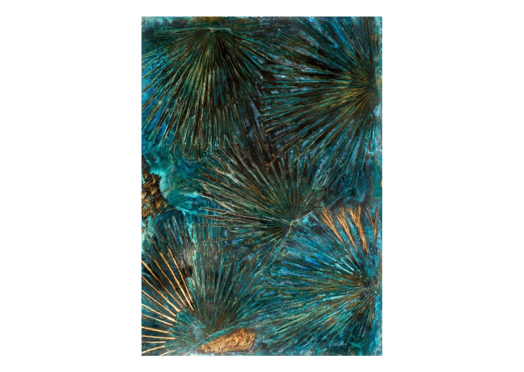 """Brahea Edulis"" 2018, ottone ossidato, 100 x 140 cm"