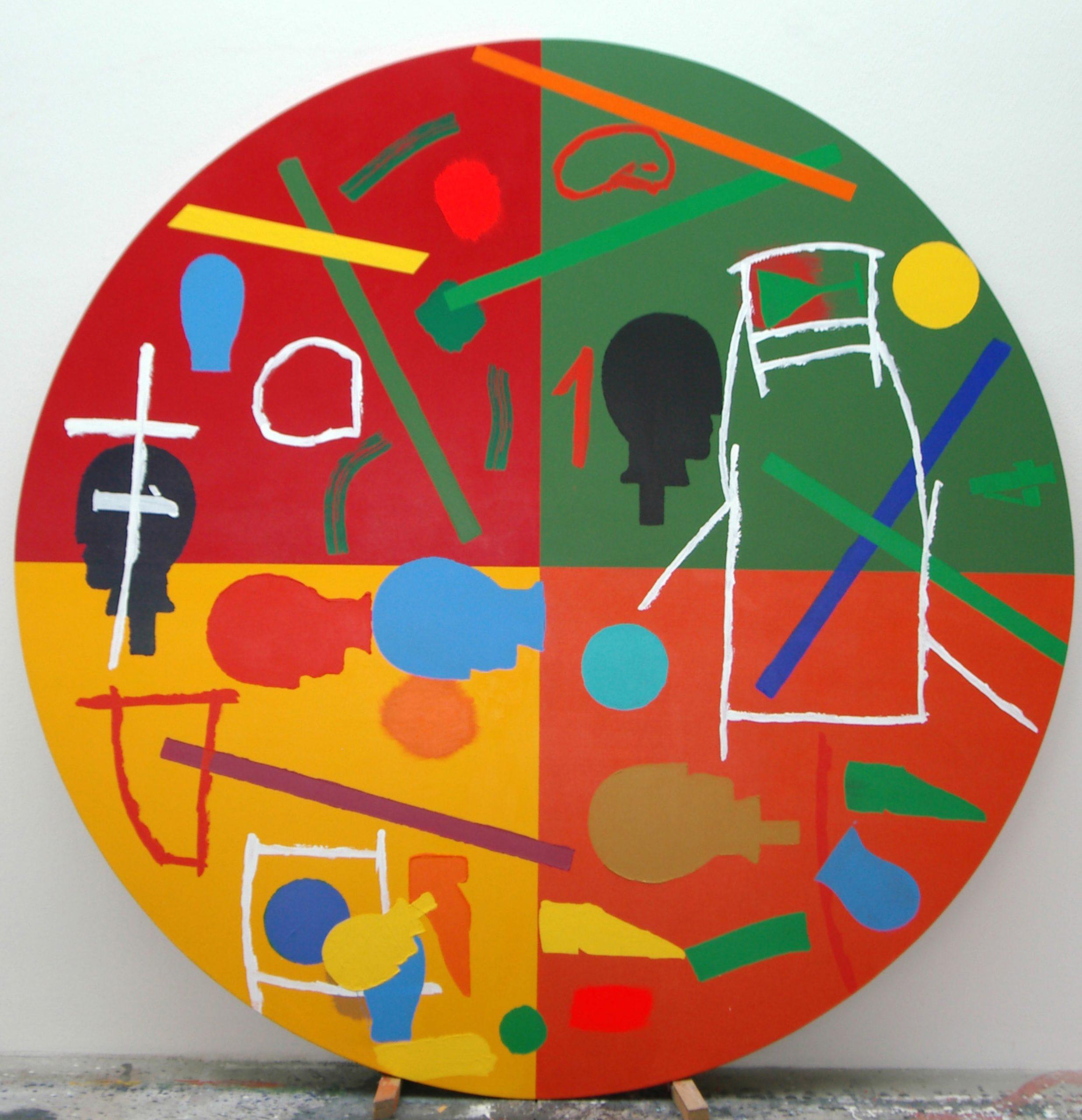 """""""Senza titolo"""" 2010, tecnica mista su tela, d. 250 cm"""