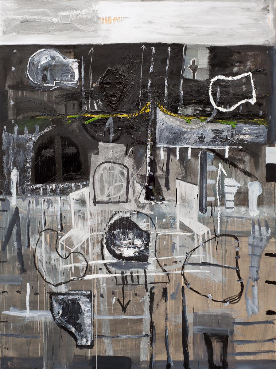 """""""Senza titolo"""" 1985, tecnica mista su tela,"""