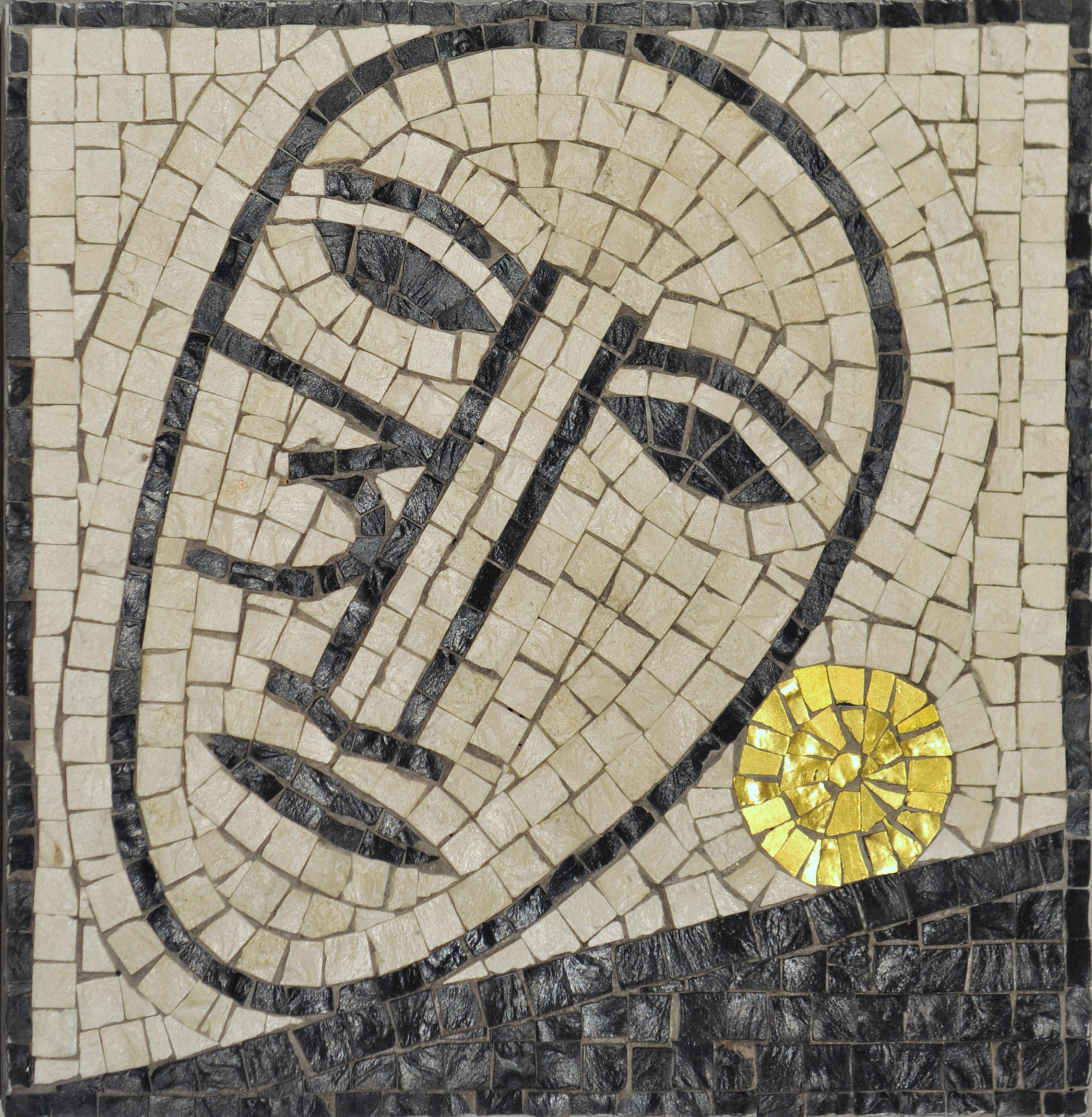 """""""Senza titolo"""" 2005, mosaico, 25 x 25 cm, ed. 100"""