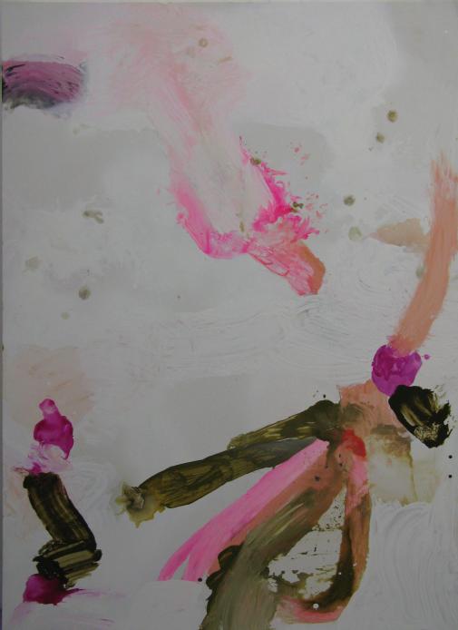 """""""Anabattista donna anziana"""" 2016, acrilico e vernice spray su ecopelle, 200 x 142 cm"""