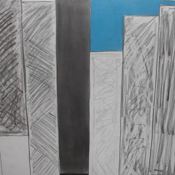 """""""Mass and space Tokio #2"""" 2010, pastello su carta, 61 x 61 cm"""