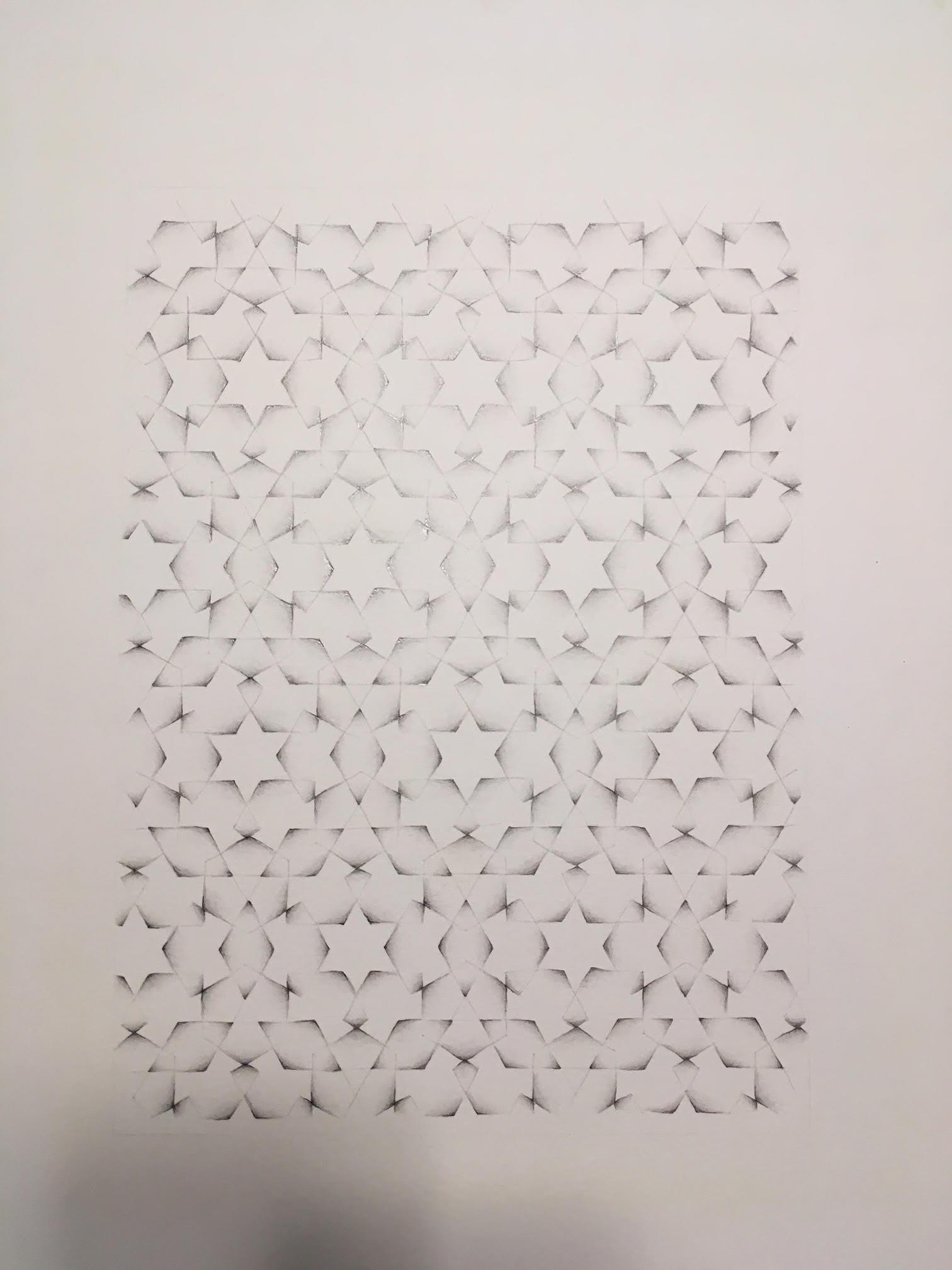 """""""Unite as infinite"""" 2017, matita su carta, 35.5 x 28 cm"""