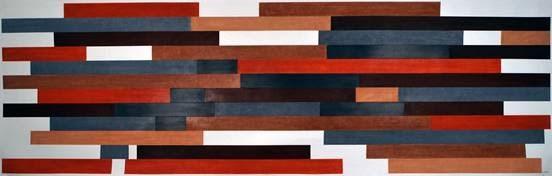 """""""Pile up #4"""" 2011, pastello su carta, 75 x 245 cm"""