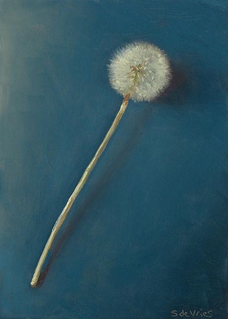 """Dadelion"" oil on wood, 18 x 13 cm"
