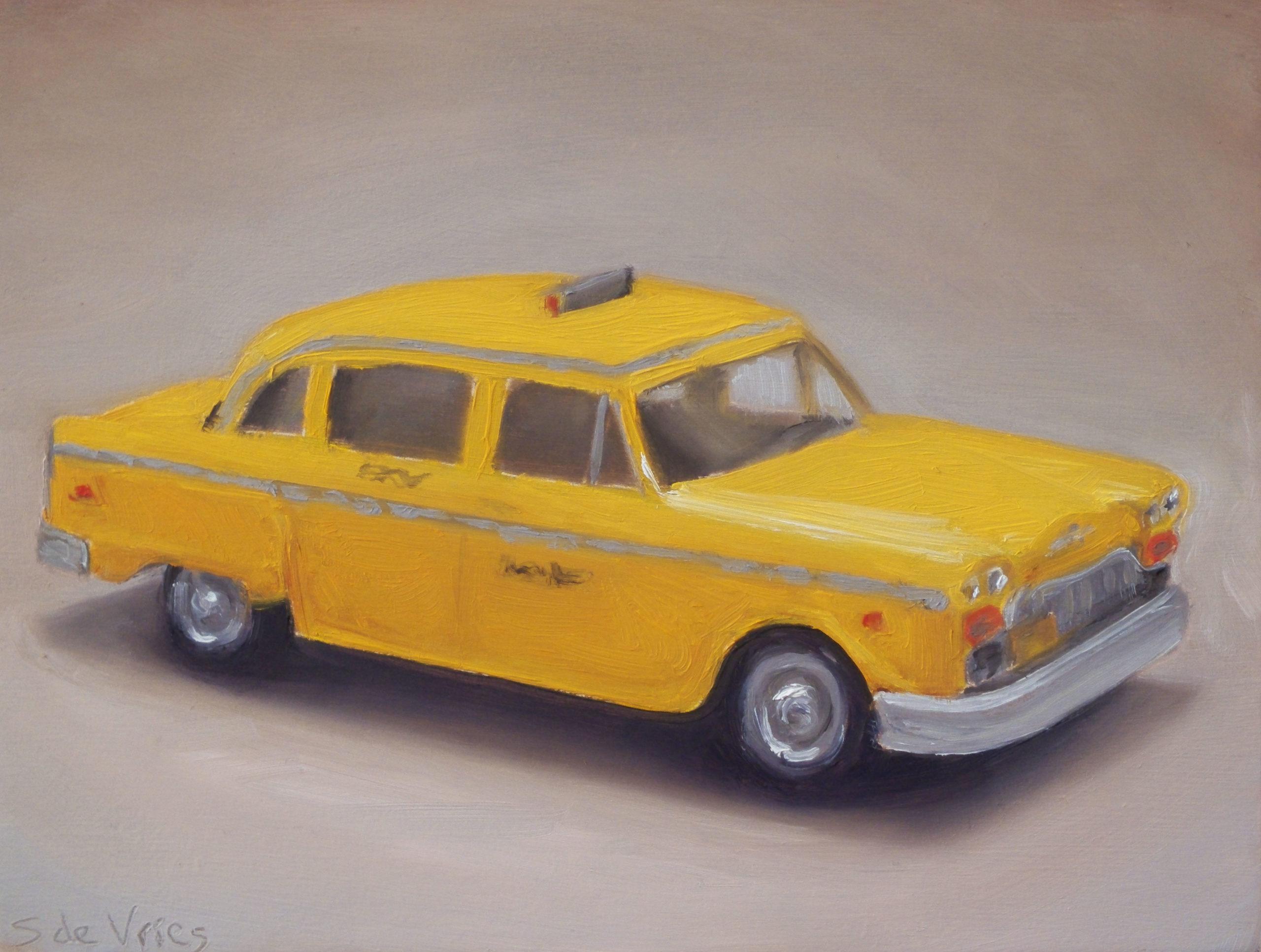 """""""Dinky toy n°12"""" oil on wood, 13 x 17 cm"""
