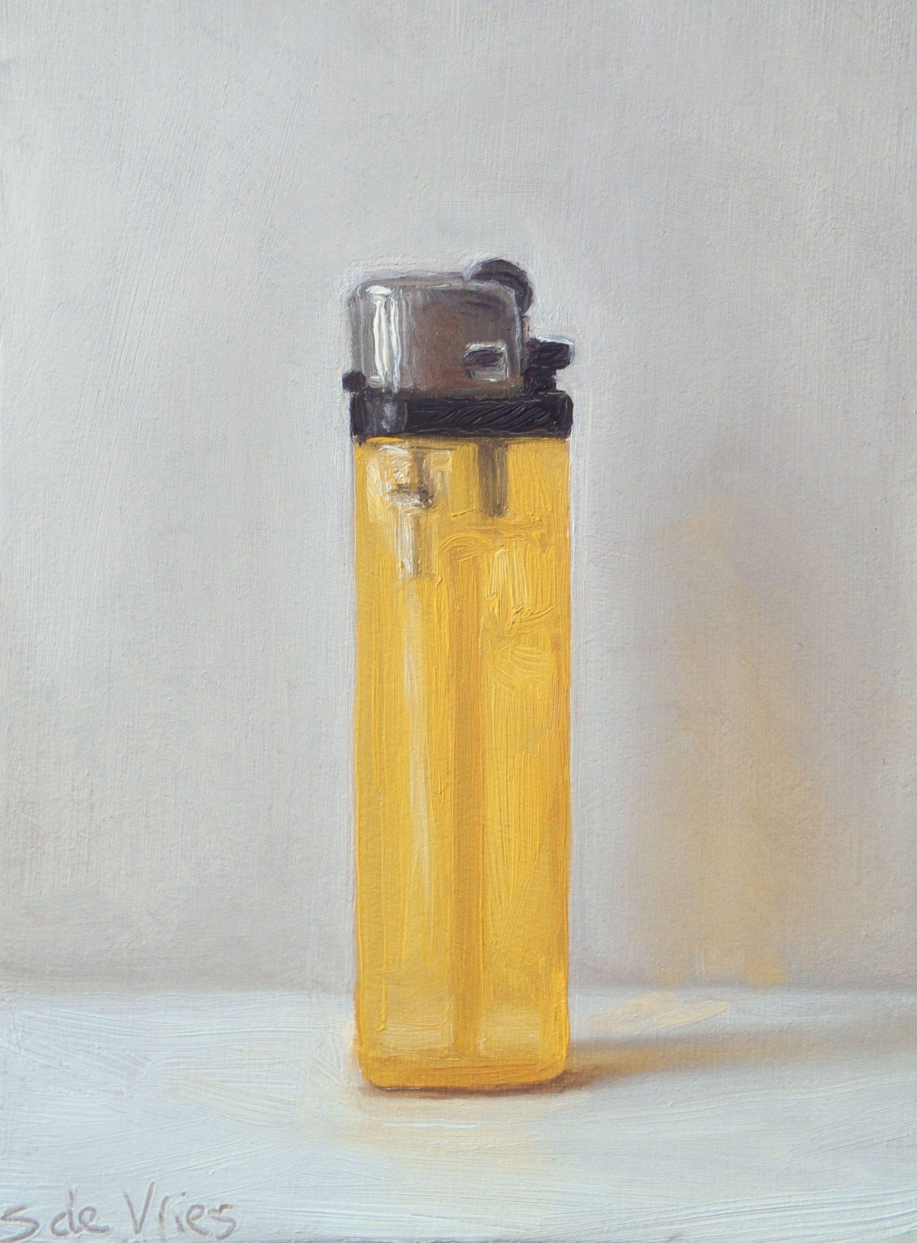 """""""Lighter n°5"""" oil on wood, 13 x 9 cm"""